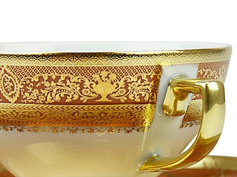 59 pieces gold plated dinner set